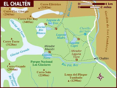 El Chaltn Mapa de Poltico