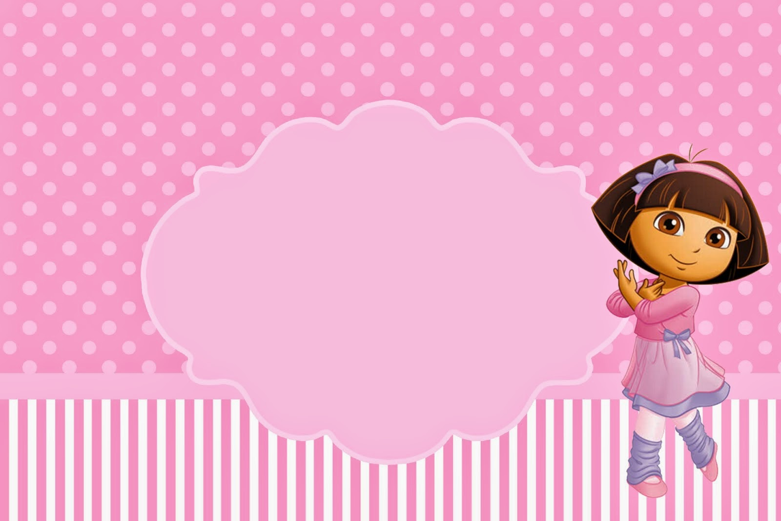 dora dancing ballet free printable invitations is it for