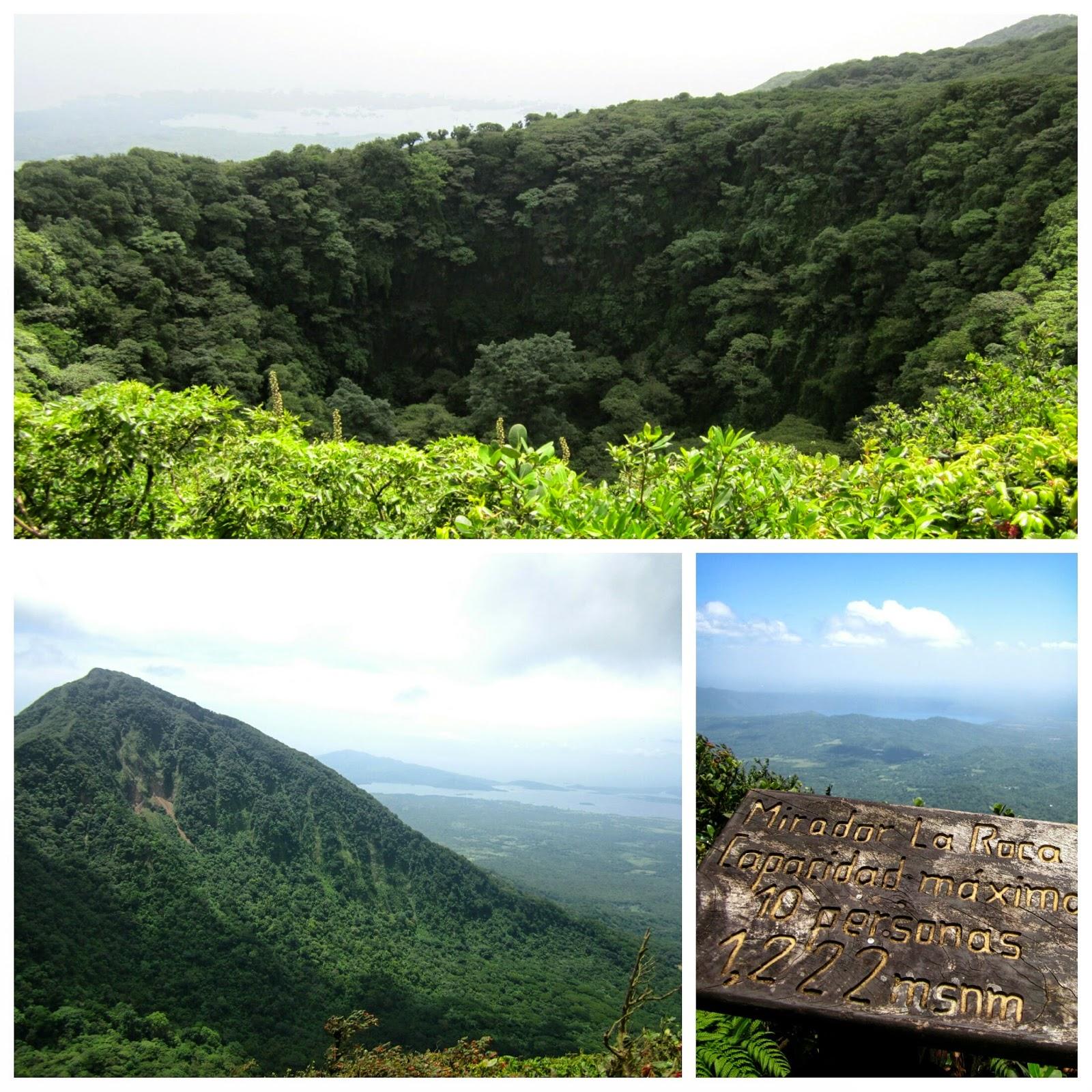 Cráter y vistas del volcán Mombacho