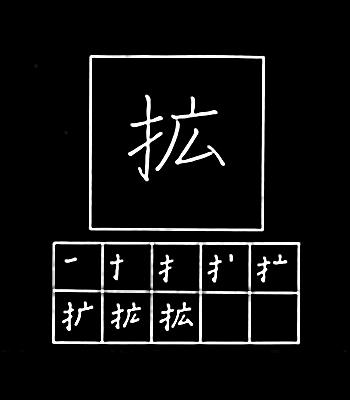 kanji membesarkan