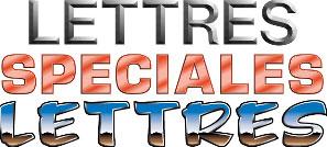 Lettres alphabétiques spéciales en symboles et caractères spéciaux