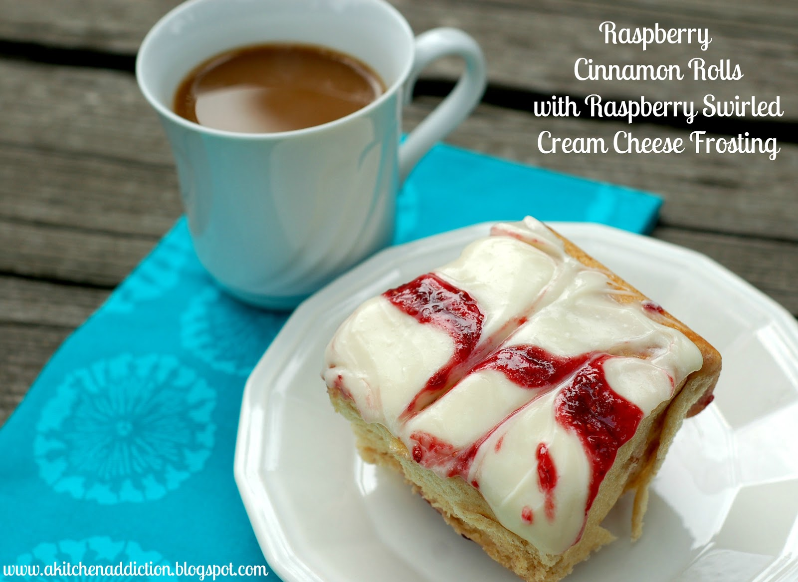 Raspberry Cinnamon Rolls with Raspberry Swirled Cream ...