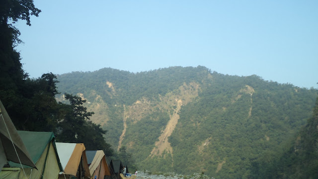 View of camp location in risikesh