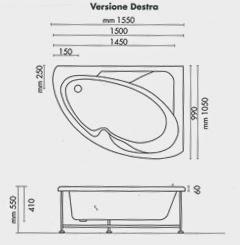 Dimensioni vasca da bagno dimensioni vasca da bagno - Dimensione bagno ...