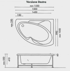 Dimensioni vasca da bagno dimensioni vasca da bagno for Dimensioni vasche da bagno angolari
