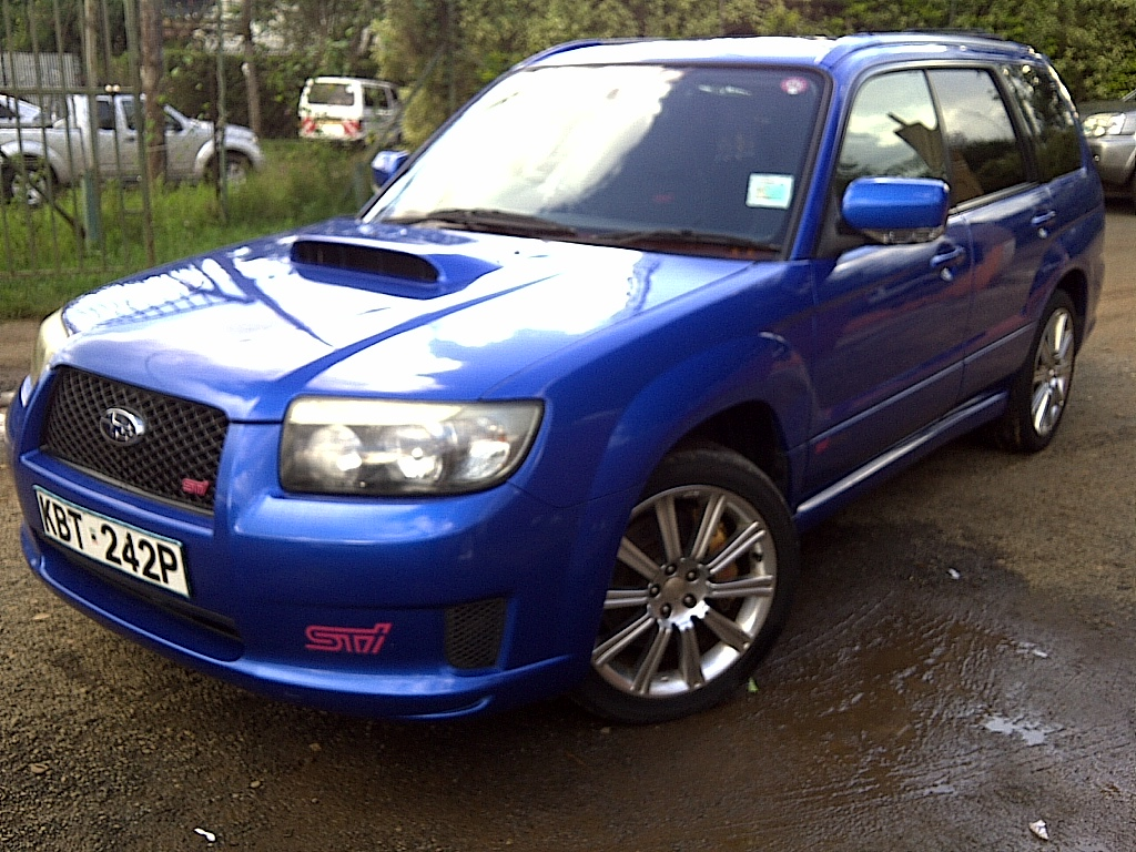 nairobimail subaru forester sti 2005 prodrive blue. Black Bedroom Furniture Sets. Home Design Ideas