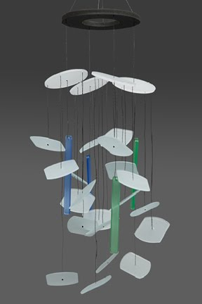 glass wind chimes. stained glass wind chimes.