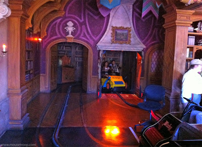 Mr. Toad's Wild Ride Disneyland interior fireplace doors crash