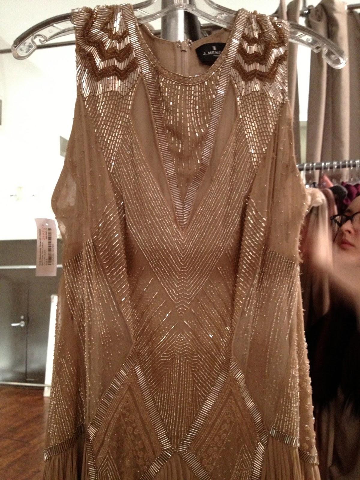 New York à la Keiko: nykeiko shops: The gowns at J.Mendel sample ...