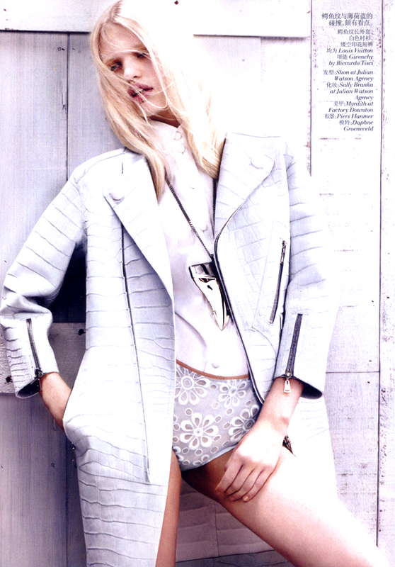 2 Daphne Groeneveld in Vogue China, February 2012!