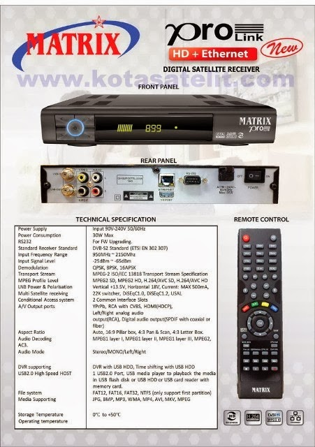 Decoder / Receiver khusus parabola with LAN ((( yang ada connector ...