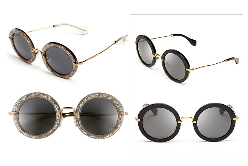 miu miu round glasses
