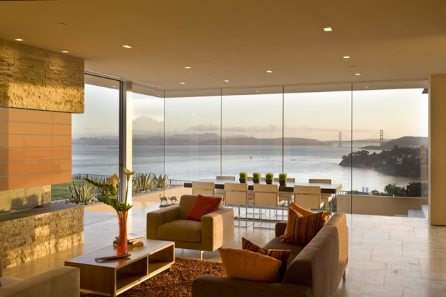 Photo of living room and the view