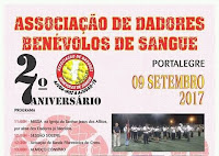 PORTALEGRE: 27º ANIVERSÁRIO DA ASSOCIAÇÃO DE DADORES DE SANGUE
