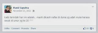 screenshoot status facebook