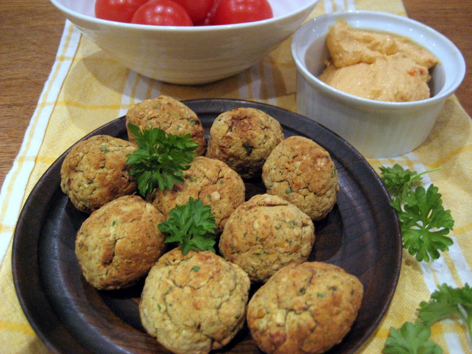 Middle-East recipe falafel chickpeas coriander spices meze snack