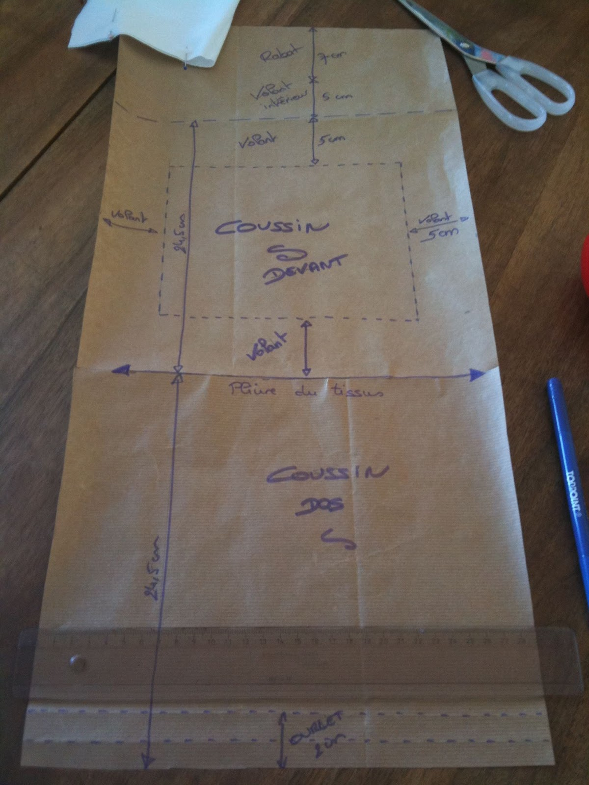 Miss sa cha tutoriel fabriquer une housse de coussin - Faire une housse de coussin dehoussable ...