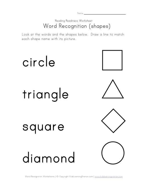 Kindergarten Shapes Worksheets Free Number Names Worksheets – Shapes Kindergarten Worksheets