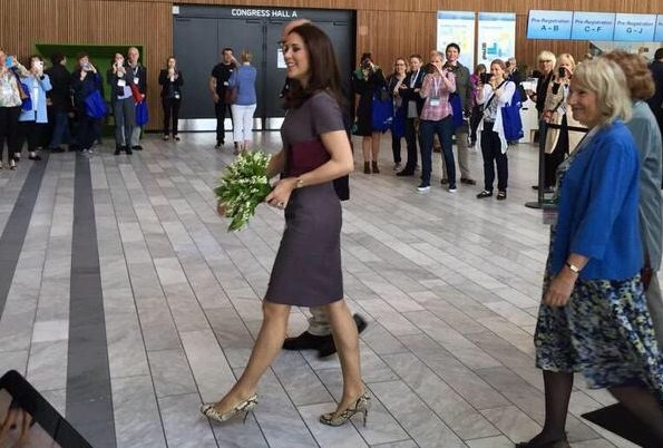 Crown Princess Mary of Denmark attends the 14th World Congress of the European Association for Palliative Care on May 8, 2015 at Bella Center in Copenhagen, Denmark.
