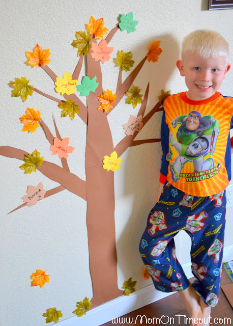 Our Thanksgiving Tree - A terrific way to show thankfulness this holiday season! | MomOnTimeout.com