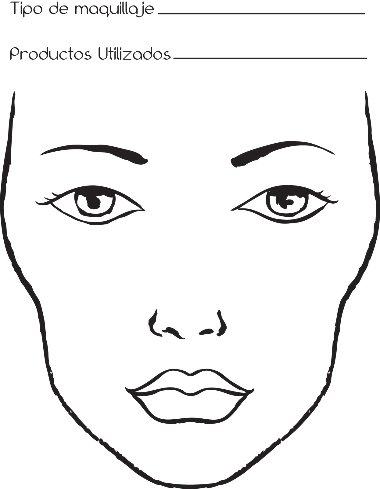 Todo lo imaginable es posible face chart for Papel para dibujar