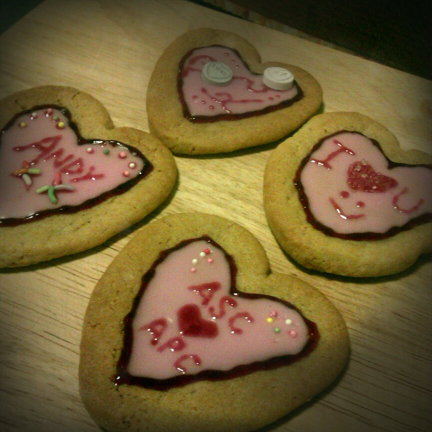 Cakes and Quorn.: Valentine s/gift ideas #1: cookie biscuits