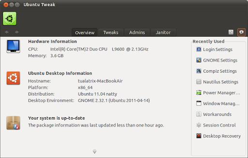 Ubuntu Tweak for Oneiric
