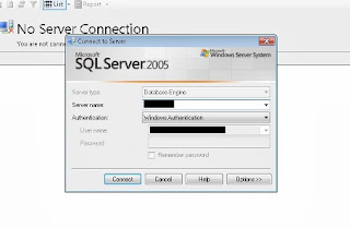 Login SQL Server (kodekodekode.blogspot.com)