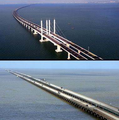 Shandong+Highway jambatan+terpanjang+dunia billyinfo6 Jambatan Terpanjang Di Dunia Kini Di China