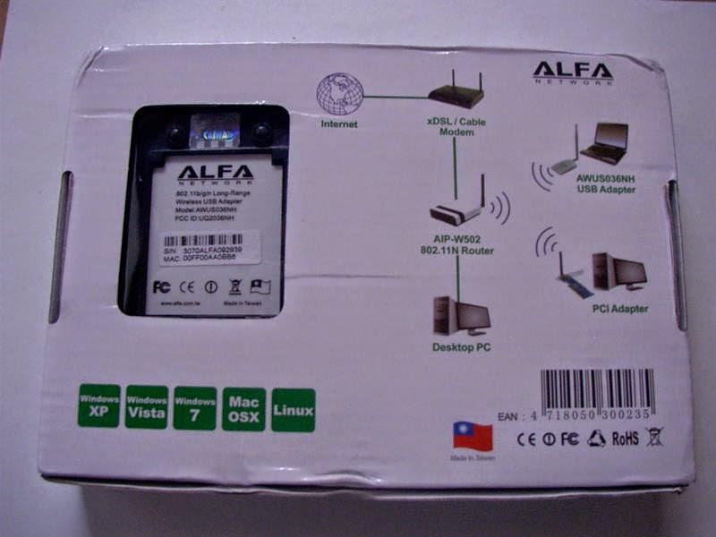 Venta de Alfa AWUS036NHR 2000 mW Usb Adapter