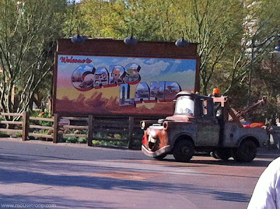 Cars Land Carsland Mater Sign Entrance DCA Disney Adventure
