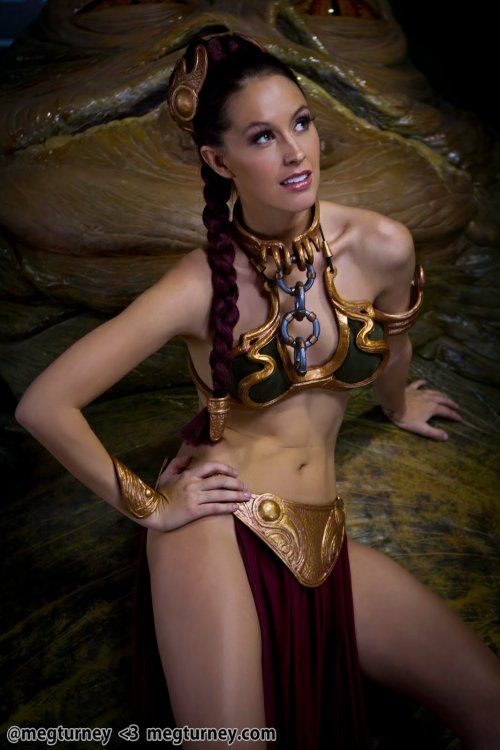 meg turney cosplay star wars princesa leia escrava