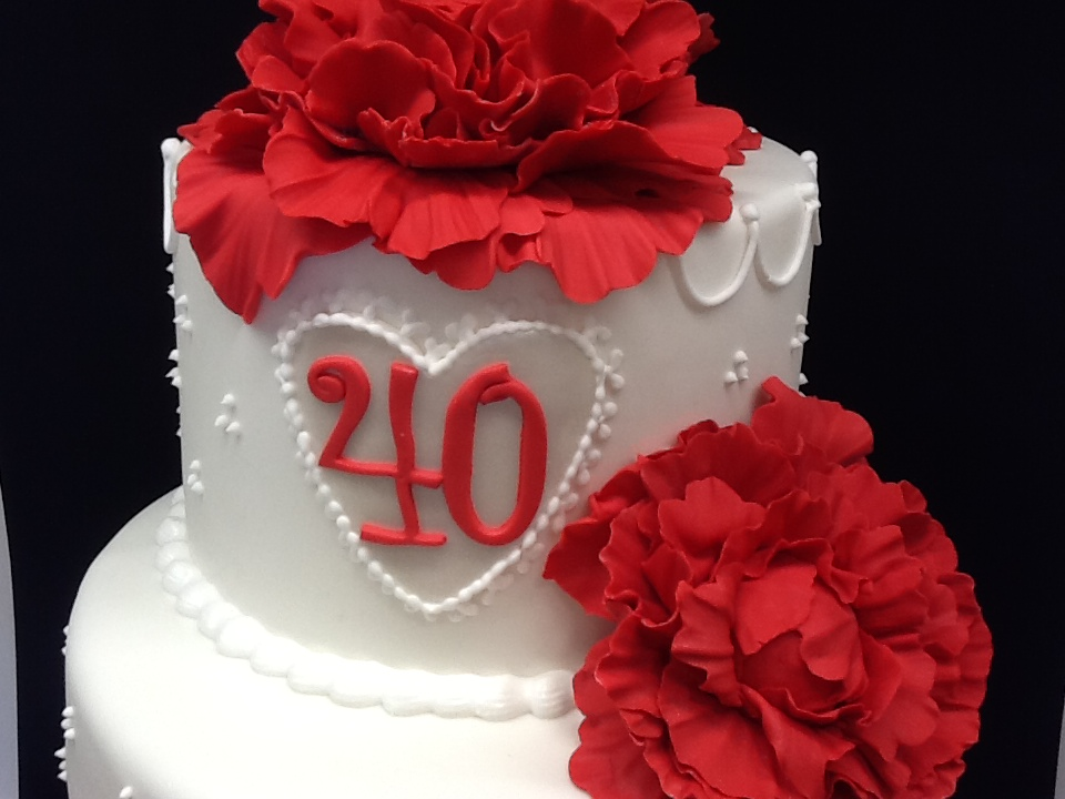Tartas noelia tarta 40 aniversario de bodas for Decoracion 40 aniversario de bodas