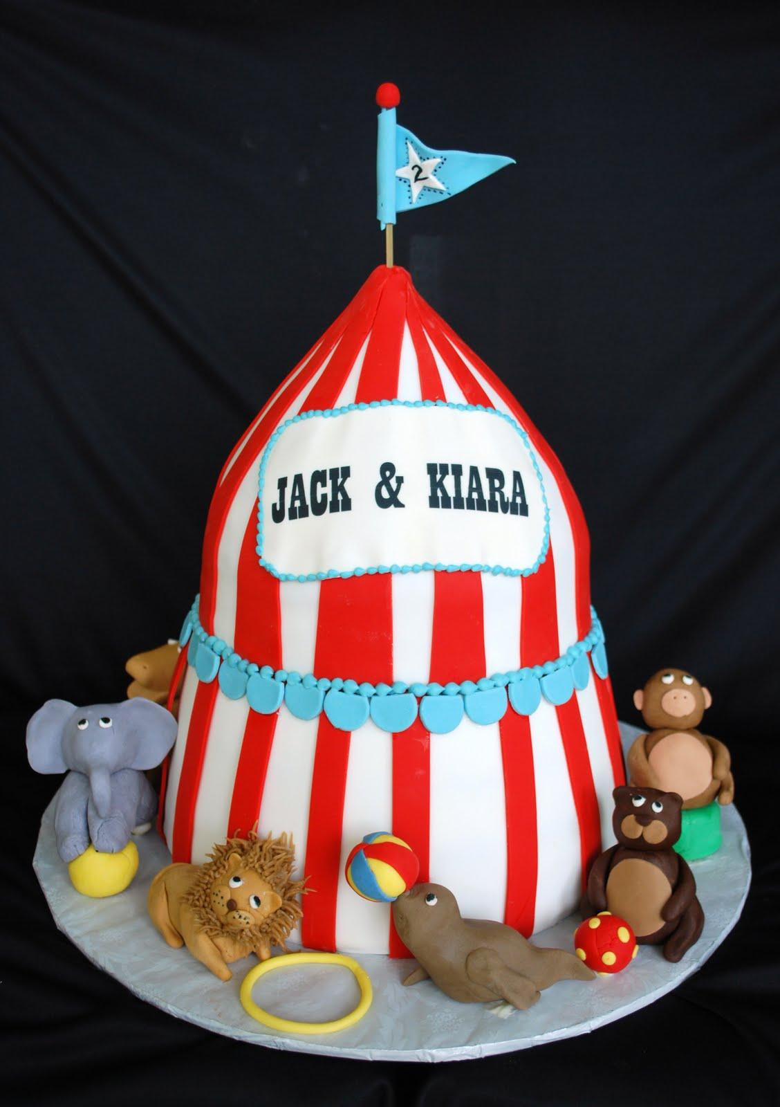 The Beehive Circus Theme Cake