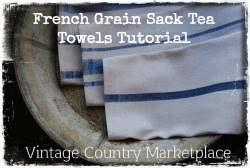 Tutorial French Grain Sack Tea Towels