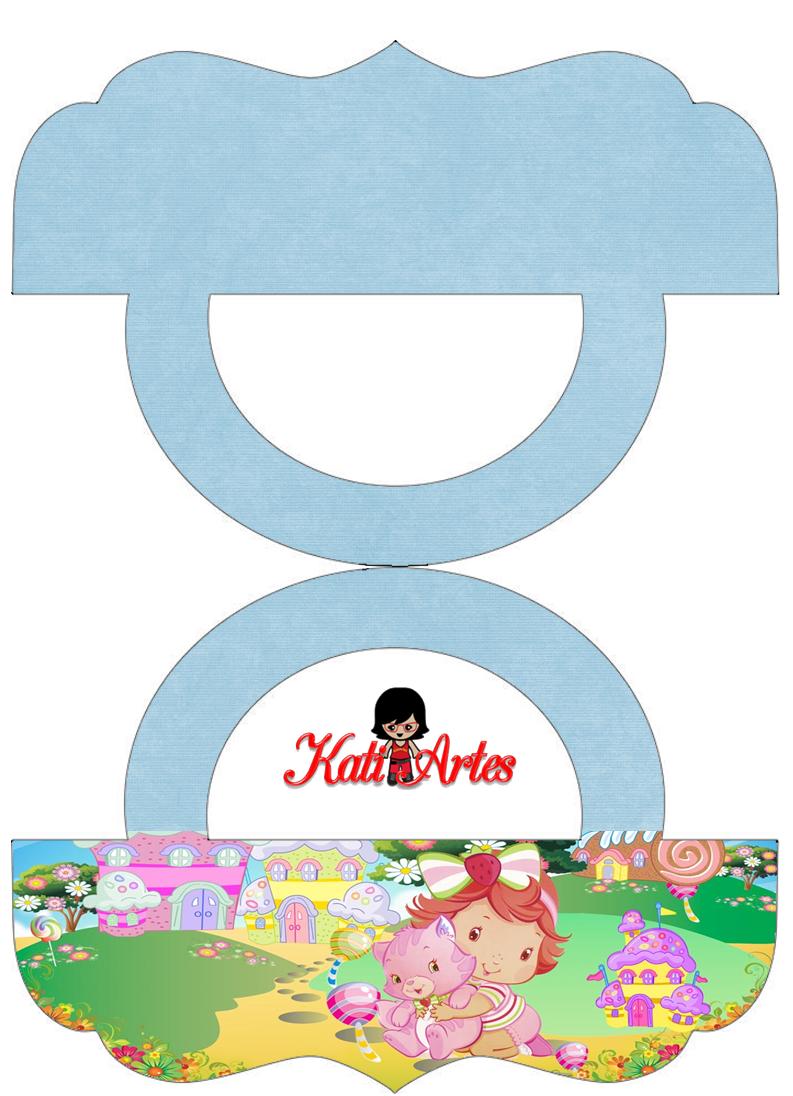Strawberry Shortcake Bebé: Etiquetas para Bolsas de Golosinas para Imprimir Gratis.