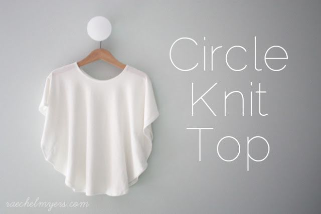 DIY camiseta facil Circle Knit Shirt Tutorial