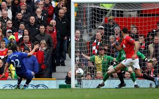 أهداف مباراة مانشستر يونايتد و ايفرتون 4-4 في الدوري الانجليزي 22-4-2012