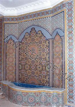 fontaines en zellige du fes zellige marocain carreaux zelliges moroccan zellij. Black Bedroom Furniture Sets. Home Design Ideas