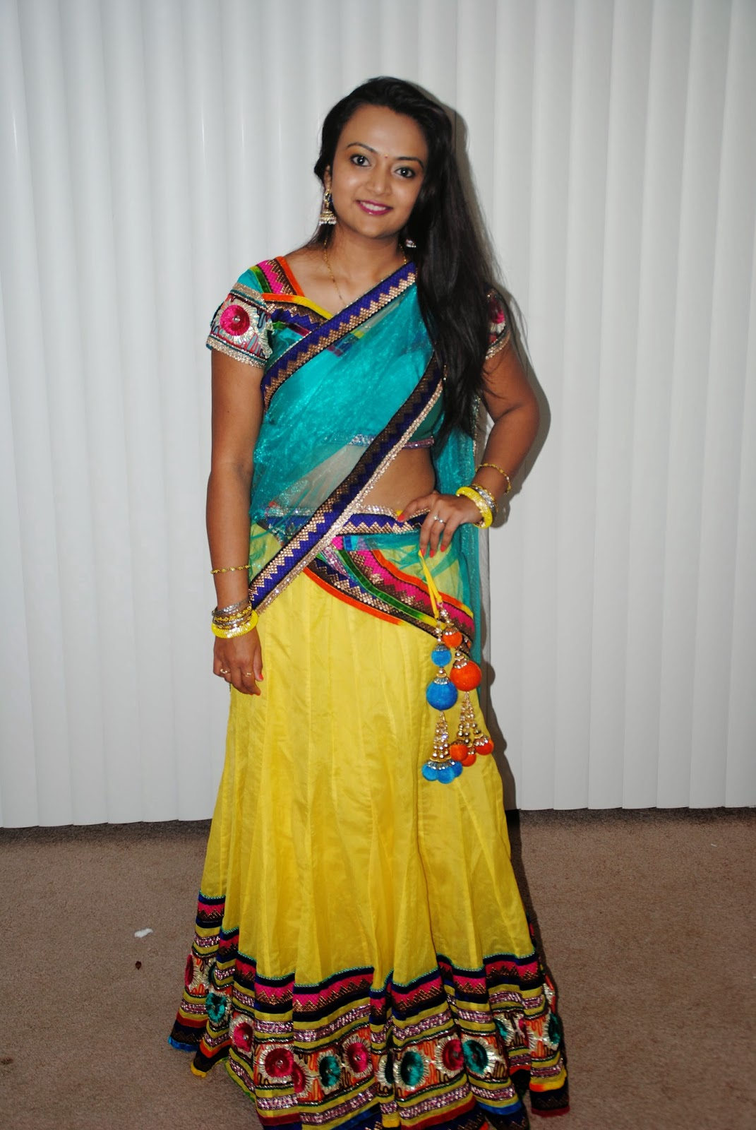Indian bridal wear, beautiful indian girl, authentic indian wear, designer lehenga , Seattle indian store , yellow and green combination dress, indian-usa fashion blogger