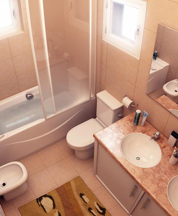 kamar mandi mewah berukuran kecil untuk rumah minimalis