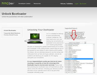 Unlock Bootloader HTC Wildfire S from HTCDev