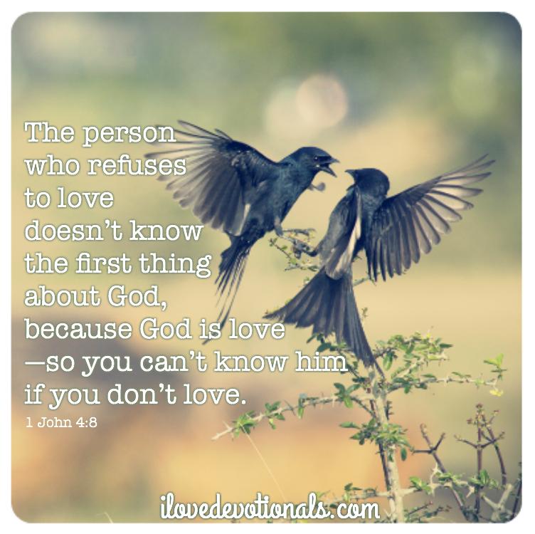 God is love scripture 1 John 4:8