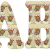 Alfabeto de ositas cuidando las flores.