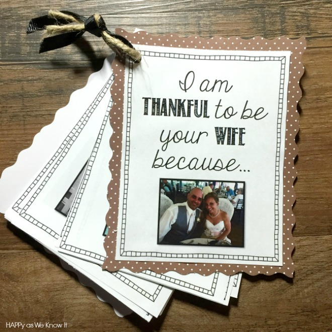 Happy as We Know It: A Thankful Wife (DIY Gift Idea)