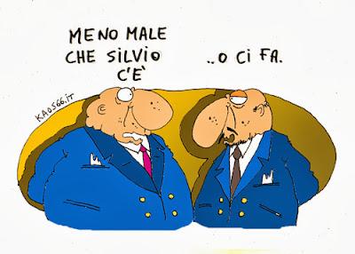 vignetta: Silvio è tra noi