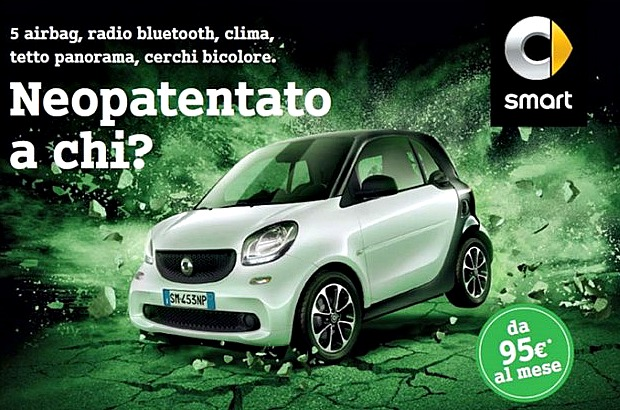 La nuova smart fortwo Black Passion in Offerta