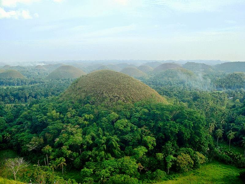 Chocolate Hills are featured in the provincial flag and seal to symbolize the abundance of natural attractions in the province.