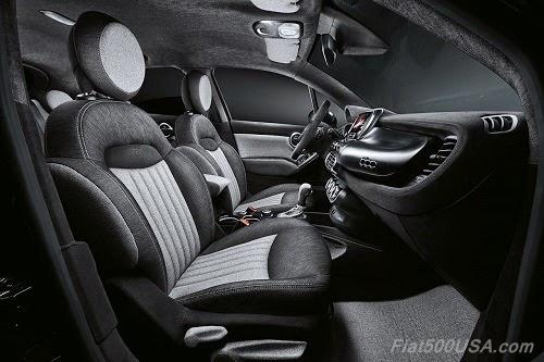 """Fiat 500X """"Black Tie"""" Interior"""