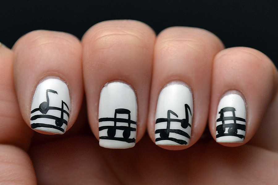 View Images Glitter and gloss nails music note ... - Cute Music Nail Designs ~ Christabellnails Music Note Nail Art